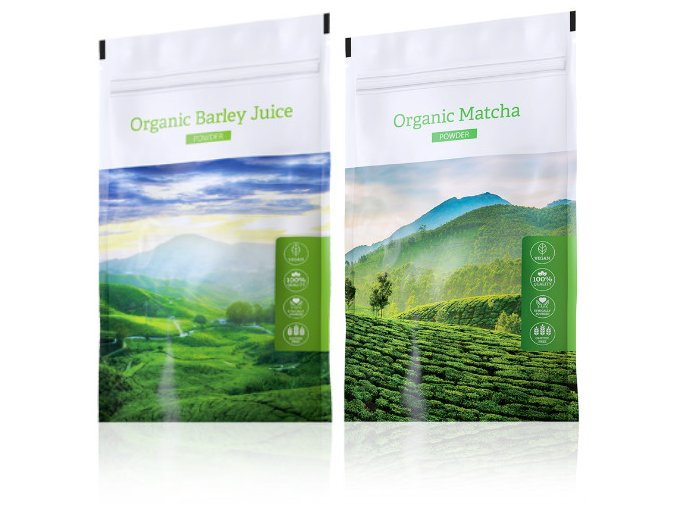Energy Organic Barley Juice powder + Organic Matcha powder