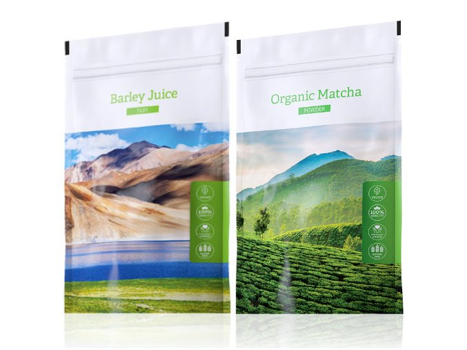 Energy Barley Juice tabs 200ks  + Organic Matcha powder 50g
