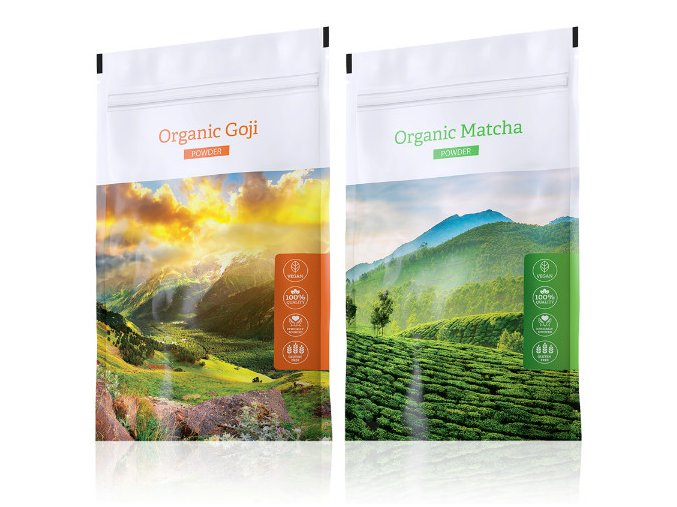 Energy Organic Goji powder + Organic Matcha powder