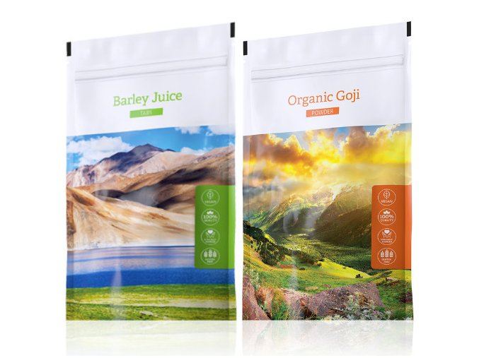 Energy Barley Juice tabs + Organic Goji powder