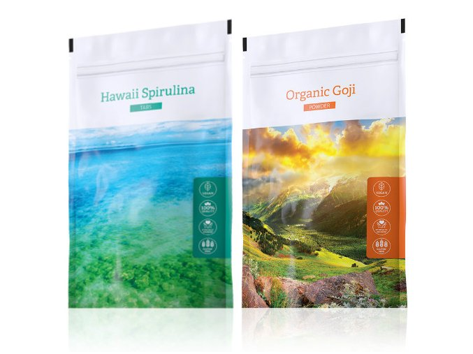 Energy Hawaii Spirulina tabs + Organic Goji powder