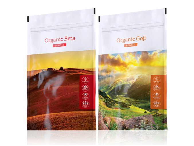 Energy Organic Beta powder + Organic Goji powder