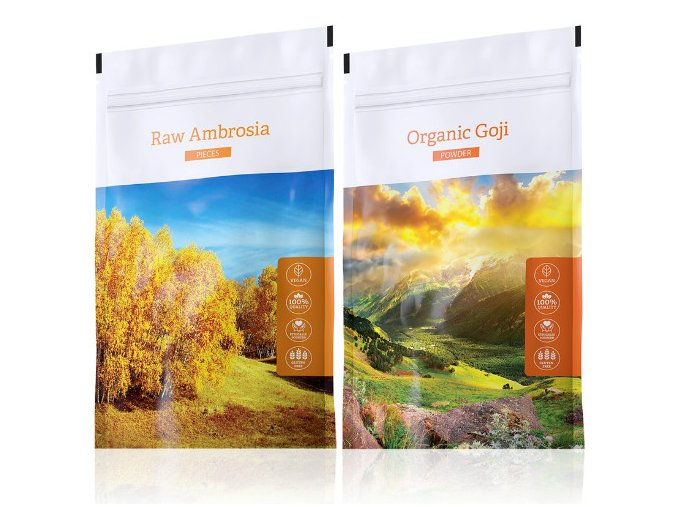 Energy Raw Ambrosia pieces + Organic Goji powder