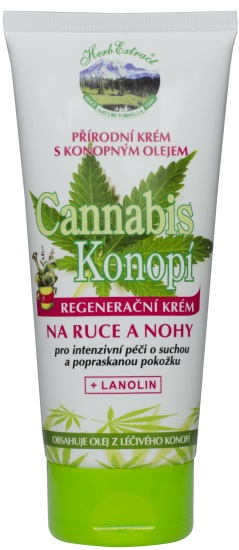 Vivaco Krém na ruce a nohy CannaCare HERB EXTRACT 200 ml