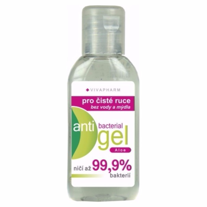 Anti-bacterial gel na ruce s Aloe vivapharm 50ml