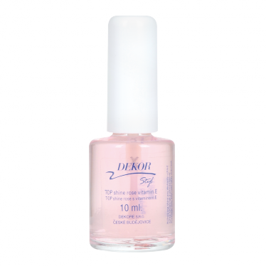 Dekor lak nehty TOP SHINE ROSE- VITAMIN E 10ml