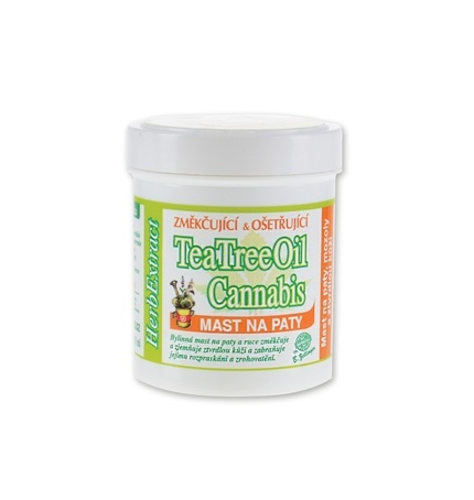 Konopná mast na paty - cannabis a tea tree oil 125ml